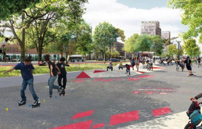 Projet d'aménagement des quais de Bordeaux boulevard des Frères Moga