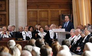 François Hollande devant la Cour des comptes le 7 septembre 2012.