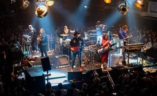 Arcade Fire en concert à Londres, le 4 juillet 2017.