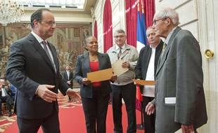 François Hollande et Norbert Gilmez, en septembre 2016 à l'Élysée