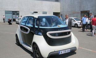 Le prototype de voiture autonome Link in city de la société Akka technologies