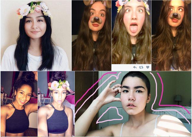 Les nouveaux filtres Snapchat, sources inépuisables de selfies. Source: Twitter.