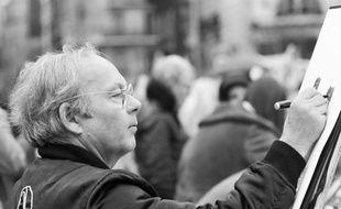 Le caricaturiste Siné à Paris en 1984