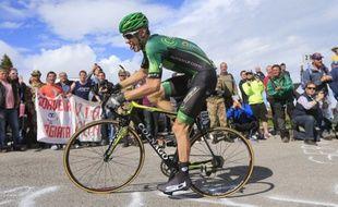Pierre Rolland sur le Tour d'Italie, le 31 mai 2014.