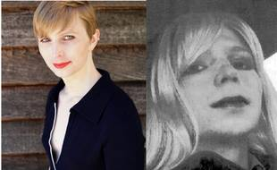 Photomontage de Chelsea Manning, la lanceuse d'alerte incarcérée puis libérée en mai 2017.