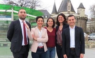 Mounir Belhamiti, Sarah El Haïry, Emmanuelle Bouchaud, Valérie Oppelt et Hervé Grélard.