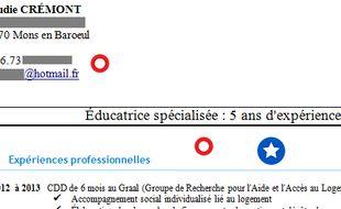 Le CV de Claudie.