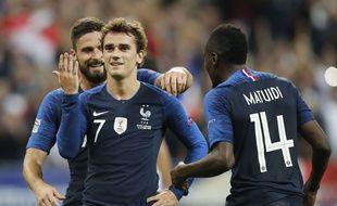 Griezmann a (encore) inscrit un doublé contre l'Allemagne, le 16 octobre 2018 au Stade de France.