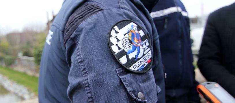 Un plongeur de la gendarmerie. Illustration.