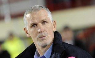 Francis Gillot, l'entraîneur des Girondins de Bordeaux, à Dijon, le 19 novembre 2011.