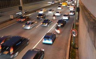 Vitesse limitée à 80km/h le 12 novembre 2012 sur le périphérique à Paris