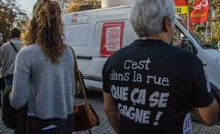 Lors d'une manifestation intersyndicale à Paris, le 9 octobre 2018.
