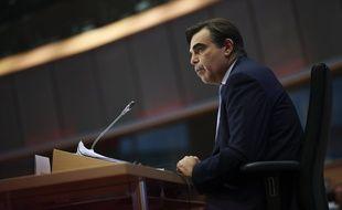 Margaritis Schinas lors de son audition devant le Parlement européen à Bruxelles le 3 octobre 2019.