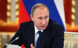 Le président russe Vladimir Poutine le 1er octobre 2015 au Kremlin