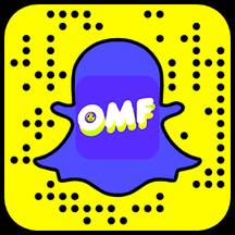 Scannez ce Snapcode pour vous abonner à OMF Oh My Fake !