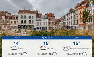 Météo Lille: Prévisions du mercredi 25 septembre 2019