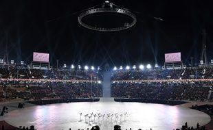 Ouverture de la cérémonie des JO d'hiver, le 9 février 2018.