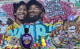 Hommage à Kobe Bryant à Los Angeles, le 28 janvier 2020