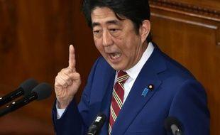 Le Premier ministre japonais Shinzo Abe le 22 janvier 2016
