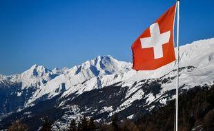 Un drapeau Suisse à Crans-Montana (image d'illustration).