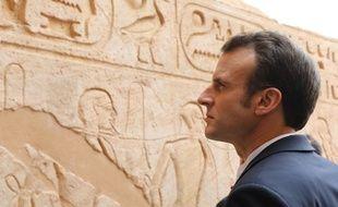 Emmanuel Macron en visite en Egypte, le 27 janvier 2019.