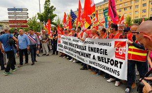ne précédente manifestation avait réuni entre 5.000 et 8.000 personnes en juin 2019 pour soutenir les salariés de l'entité turbines à gaz de General Electric de Belfort.
