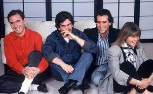 Philippe Risoli, Patrick Roy, Bernard Montiel et Dominique Cantien en 1989.