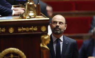 Le premier ministre Edouard Philippe avant son allocution à l'Assemblée nationale, le 12 juin 2019.