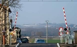 Photo d'illustration d'un passage à niveau en France.
