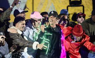 Nekfeu sur la scène des Victoires de la musique, le 12 février 2016
