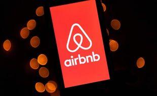 Le logo de l'entreprise Airbnb (image d'illustration).