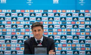 Oui, ça pique. Michel, en conférence de presse à Marseille, le 18 mars 2016, (après une défaite 2-5 contre Rennes).