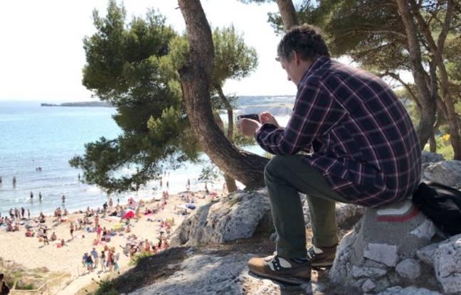 Michel Gondry sur le tournage de son film Détour.