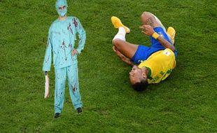 Neymar après une amputation sans anesthésie.
