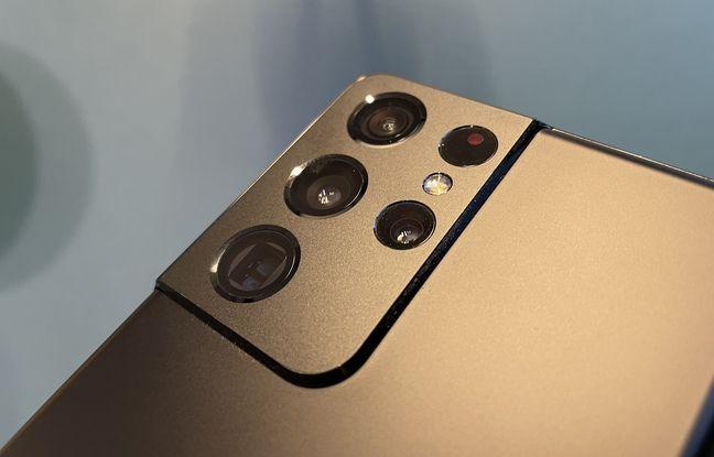 Le module photo arrière du Galaxy S21 Ulra avec ses quatre capteurs.