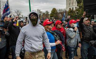 Des supporteurs de Donald Trump lors de l'assaut contre le Capitole, le 6 janvier 2021 à Washington.