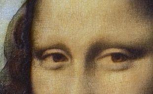 Détail de la «Joconde» de Léonard de Vinci.