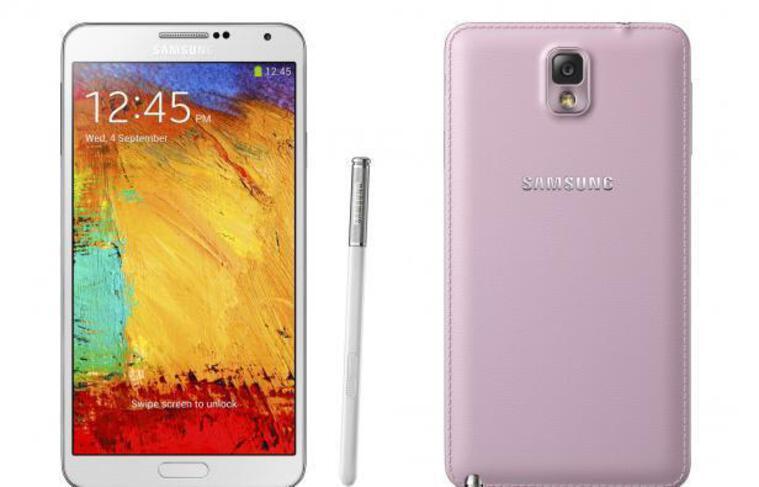 Le Samsung Galaxy Note 3.