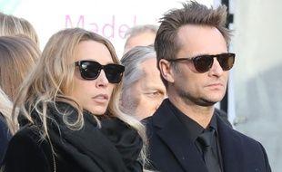 Laura Smet et David Hallyday lors de l'hommage rendu à Johnny Hallyday à la Madeleine, le 9 décembre 2018.