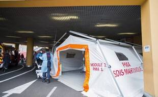 A l'hôpital de Fort-de-France, le 30 juillet.