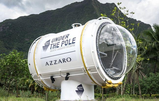 La caspule utilisé par Under the pole est un cylindre en aluminum de 3,20 mètres de long et 1,5 mètre de diamètre avec, à ses extrémités, deux demi-sphères transparentes. Elles permettent d'avoir une vue à 360° sur la vie marine autour.