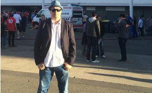 Une photo d'Alexandre Chpryguine devant le Stadium de Toulouse postée le 20 juin 2016 sur son compte Twitter.
