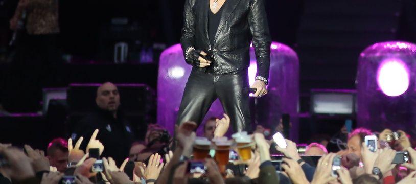 Johnny Hallyday en concert à Namur, en Belgique, en 2013