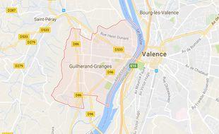 La peluche flottait sur les eaux du Rhône vers Guilherand-Granges.