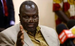 Le chef rebelle sud-soudanais Riek Machar, le 18 septembre 2015 à Khartoum