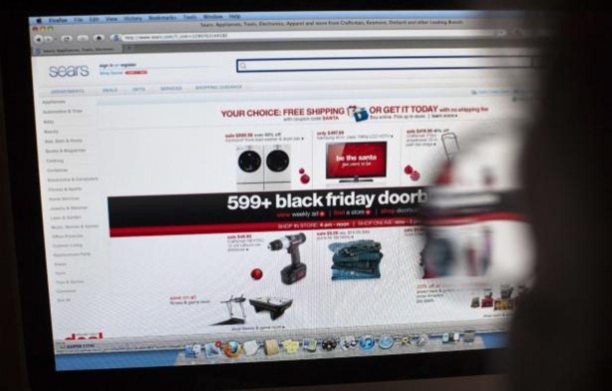 Un internaute devant un site d'e-commerce, le 26 novembre 2010. –  Richard B. Levine