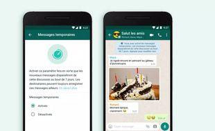 WhatsApp: comment activer les messages temporaires