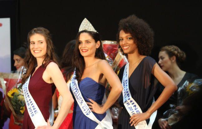 Amandine Jost, Miss Montpellier 2018, entourée de ses deux dauphines, Mariem Touré (à droite), première dauphine, et Alexia Grange, deuxième dauphine.