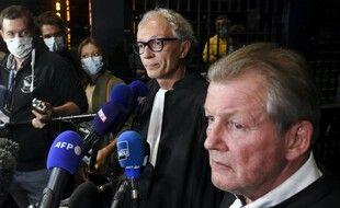 Thierry Fillion and Patrick Larvor, les avocats d'Hubert Caouissin.