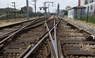 Des rails SNCF (Illustration)